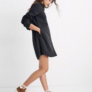 Madewell Black Denim Shirtdress w Pockets Small